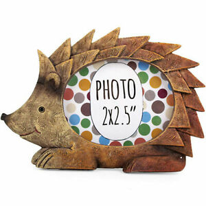 New Mini Wildlife Animal Photo Picture Frame Nursery Room - Monkey Fox Hedgehog