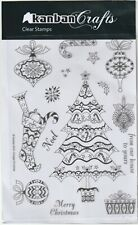 Kanban Clear Rubber Stamps - Vintage Christmas (Card making Crafts ) Brand New