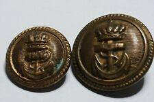 Netherlands Dutch Royal Navy 2 buttons Tin back 23mm & 18mm
