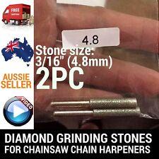 2 X 3/16 DIAMOND GRINDING STONES FOR CHAINSAW CHAIN SHARPENER OREGON STIHL ETC