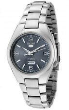 Seiko 5 Men's Automatic See Through Grey Dial Steel Watch SNK621 SNK621K1