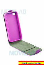 Funda tapa vertical Apple Iphone 6 / 6S 4.7 TPU / Piel Flip tarjeta violeta