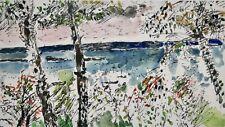 Guy Bardone - Peinture originale - Aquarelle - Bord de l'eau du midi