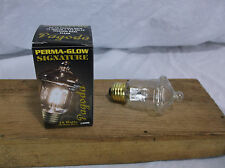 Antique Vintage Style PAGODA Light Bulb 15W Frosted L4096 edison PERMA-GLOW