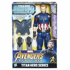 MARVEL Avengers Infinity GUERRA Héroe De Titan Power Fx Capitán América Figura