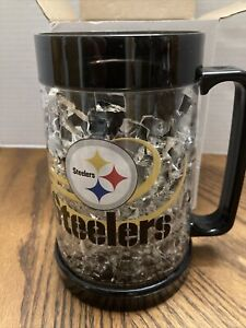 NFL Pittsburgh Steelers Freezer Drinking Mug 16 oz Frosty Cup Full Color NEW