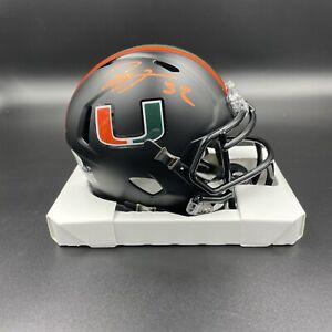 Ray Lewis Signed Autographed The U University Of Miami Speed Mini Helmet NCAA