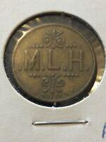 Vintage Token, M.L.H. Good For 5 Cents At Bar Vintage Coin T16