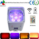 1pcs 6X6in1 Rechargeble Led Par Light WIFI IOS Android Wireless DMX Led Up Light