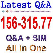 Check Point Certified Security Expert (CCSE) R77 156-315.77 Exam QA PDF+SIM