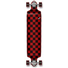 Punked Checker Graphic Speed Drop down Longboard Complete skateboardsRed
