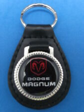 DODGE MAGNUM AUTO LEATHER KEYCHAIN KEY CHAIN RING FOB #174