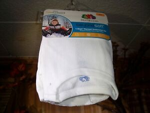 FRUIT OF THE LOOM BOYS THERMAL UNDERWEAR SET SIZE MED 8 WHITE SHIRT AND PANTS