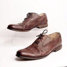 Frye Harvey Wingtip Oxfords Lace Up Mens Dress Shoes 11 M Brown Leather