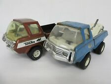Two vintage Tonka trucks - Tow truck and pick-up truck