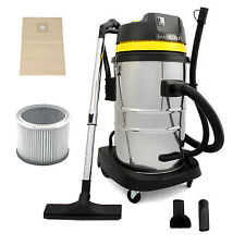 Industrial Vacuum Cleaner Wet & Dry Commercial Stainless Steel 60L Hoover