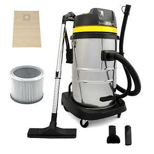 Industrial Vacuum Cleaner 60L Wet & Dry Commercial Wood Chip Hoover HEPA