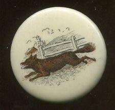 """Vintage 1 1/4"""" Diameter Pin Back Pinback Of Dog Or Fox"""