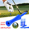 "Castle Golf Tees Plastic Step Down Tees 100 Pcs 1 1/2"" Blue Golfer Accessories"