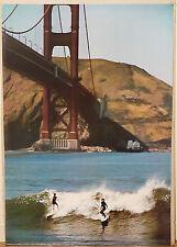 (PRL) PONTE GOLDEN GATE BRIDGE SURF SPORT VINTAGE PRINT AFFICHE ART POSTER