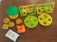 Vtg Fisher Price Little People Playground lot  Swing, Merry Go Round and more