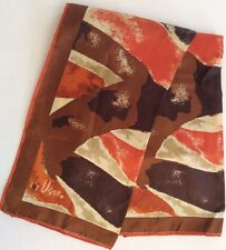 Vera Neck Scarf Lady Bug Logo Autumn Fall Abstract Rolled Edge 44x14in Vintage