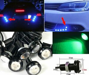 Green 10x 5W COB LED Lamp DRL Puddle light Under Car Bumper projector MSS J