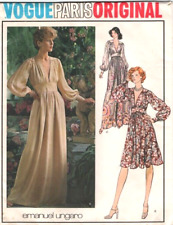 "1974 Vintage VOGUE Sewing Pattern B34"" DRESS (1894) By EMANUEL UNGARO"