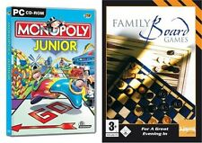 junior monopoly & family board games    new&sealed