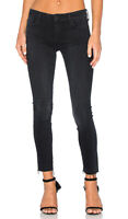 MOTHER Womens 29 Dark Wash Looker Ankle Fray Hem Skinny Jeans A Kiss In The Dark