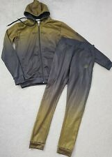 Mens Infinity Muscle Same Tracksuit Size Large Hoodie And Joggers Khaki Black