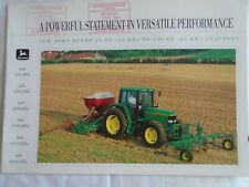John Deere  75 to 120HP Tractors brochure Sep 1993 English text