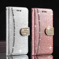 Bling Glitter Case Magnetic Flip Wallet Cover For Samsung Galaxy S21 S20 A51 A71
