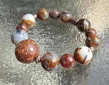 Copper Accents Bracelet Sz Sm Large Starry Sky Crystalized Agate Gemstones