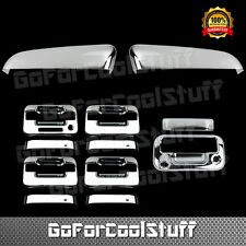 For Ford F-150 09-14 Chrome Upper Mirror, Door Handle & Tailgate Cover