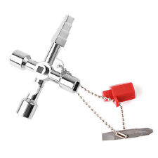 Sanitär-Schlüssel Vierkant-Schlüssel Sechskant Kreuzschlüssel Klempner Werkzeug