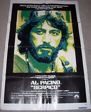 SERPICO MOVIE POSTER Folded 27x41 AL PACINO Fine Condition 1974 One Sheet