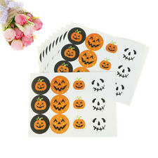 120X Halloween Pumpkin Seal Stickers DIY Candy Gifts Packaging Tags Labels