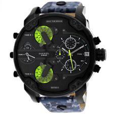 DZ7311 Mr. Daddy 2.0 Black Leather Strap 57mm Quartz Men's Chronogrph Watch