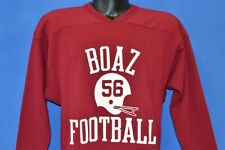 vtg 80s BOAZ FOOTBALL ALABAMA HIGH SCHOOL JERSEY STYLE V-NECK t-shirt LARGE L