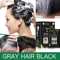 DEXE 100% Natural Black Hair Shampoo Gray white Hair Darkening Shinny 10pcs/kit