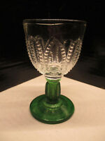 """Emerald Accent by Avon Pressed Glass Green Stem And Base 4.5"""" Glass Zipper"""