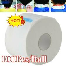 100pcs/Roll Stretchy Disposable Neck Paper Strips Barber Hairdressing Salon NEW