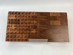 Vintage 1964 DIGSMED Wood Cutting Board #108 Trivet Cheese Footed Tray DENMARK