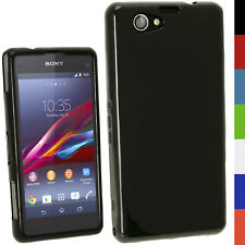 Nero TPU Custodia Case per Sony Xperia Z1 Compact D5503 + Protettore Schermo