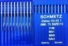 SCHMETZ DAX1 CANU:04:45 1 NM:70 SIZE:10 1128 INDUSTRIAL SEWING MACHINE NEEDLES