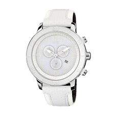 Citizen Eco-Drive Women's AT2200-04A Chronograph All White Leather Strap Watch