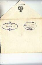 193x busta CARTEGGIO REALE+timbro DAMA COMPAGNIA REGINA MADRE-non viaggiata-g399