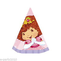 STRAWBERRY SHORTCAKE Berry Princess CONE HATS (8) ~ Birthday Party Supplies Pink