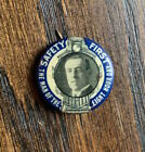 Woodrow Wilson 1916 campaign button 8 Hour Work Day railroad image RARE